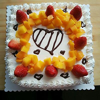 威风蛋糕(两个裱花)