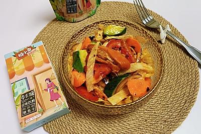 香辣鸡胸肉沙拉~低卡,低糖,低脂晚餐