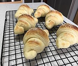 羊角开酥面包的做法