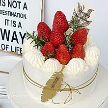 #餐桌上的春日限定# ins风|草莓奶油蛋糕