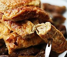 豆腐皮蟹肉卷的做法