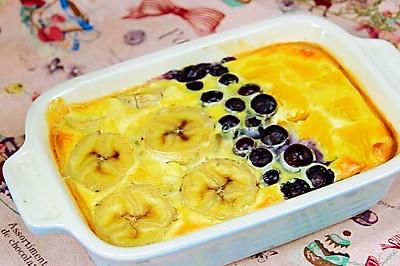 香烤水果燕麦 宝宝辅食,奶粉+香蕉+橙子+蓝莓