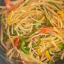 #我们约饭吧#彩椒红油土豆丝