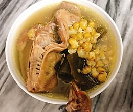 绿豆海带白鸽汤的做法
