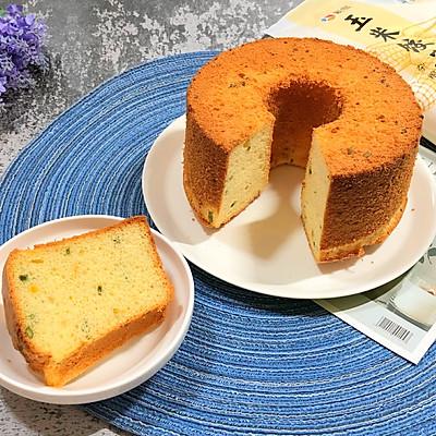 玉米饺子粉制作的咸口味戚风蛋糕