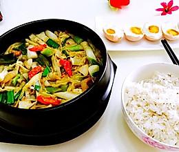 腊肉煨芦笋的做法
