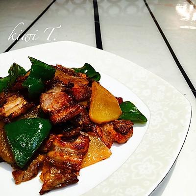 回锅肉(土豆青椒配菜)