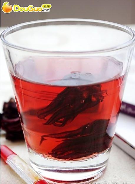 美白嫩肤:洛神花茶的做法
