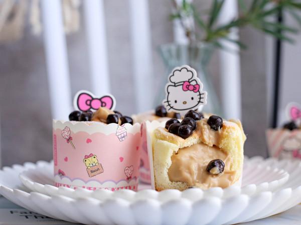 珍珠奶茶流心蛋糕的做法