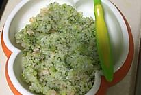 帆妈西蓝花鲜虾炒饭的做法
