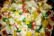 火腿花边鸡肉蔬菜比萨/培根火腿田园比萨/鸡肉蘑菇比萨的做法