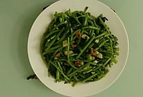 蒜泥开洋蓬蒿菜的做法