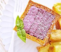 有仪式感的早餐㊙️芝香渐变紫薯土司盒子的做法