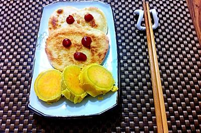 小米面鸡蛋爱心饼