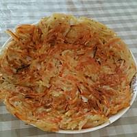 胡萝卜土豆丝素菜饼的做法图解4