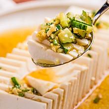 葱油黄瓜嫩豆腐