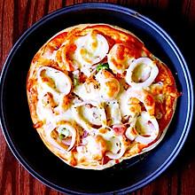厚底海鲜培根披萨