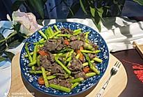 芦笋炒牛肉片的做法
