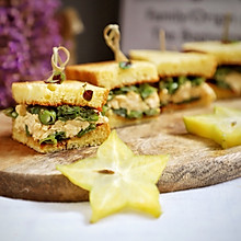 中西结合创意土司:四季豆滑蛋迷你三明治,一口一个,咸香清甜