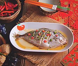 #年年有余#清蒸雪鲳鱼的做法