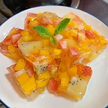 自制新鲜水果果冻,白凉粉