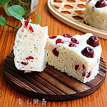 牛奶蔓越莓红枣发糕#爱仕达寻找面点女王#