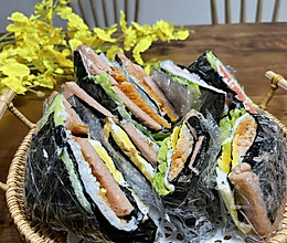 春游必备:折叠紫菜包饭的做法