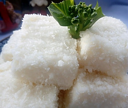 牛奶椰蓉小方糕,清香软糯,做法简便的做法