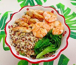 Day3减肥餐午餐鸡胸肉虾仁藜麦的做法