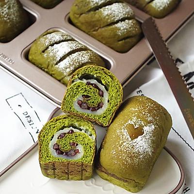 【抹茶麻薯蜜豆包】——COUSS CM-1200厨师机出品