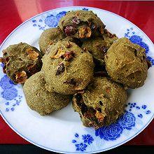 [减肥零食代餐]青汁红枣全麦魔芋饼干