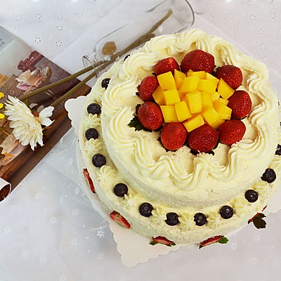 【双层水果奶油生日蛋糕】——COUSS E5出品