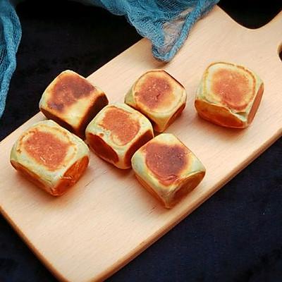 网红糕点——紫薯爆浆芝士仙豆糕