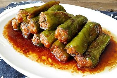 肉馅酿青椒#西王鲜味道#