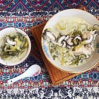 #花10分钟,做一道菜!#潮州咸酸菜香菇滚海鲈的做法图解9