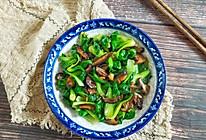 #春季食材大比拼#油菜炒香菇的做法