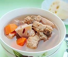藕煨排骨汤的做法
