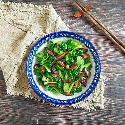 油菜炒香菇