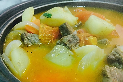 只用一种调料的番茄土豆牛肉汤