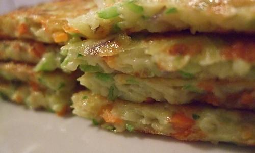 清新蔬菜饼的做法