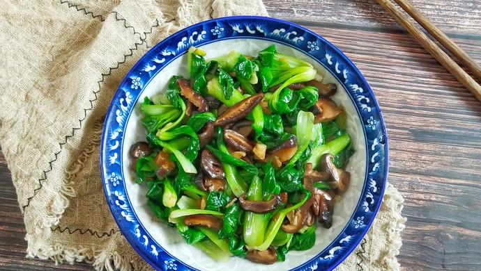 #春季食材大比拼#油菜炒香菇
