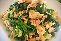 #合理膳食 营养健康进家庭#桂花鸡蛋炒菠菜的做法