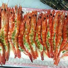 葱香蒜蓉开边虾