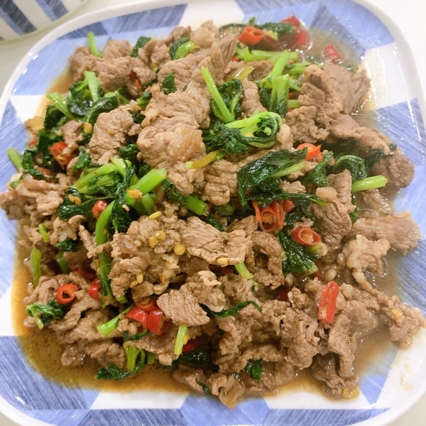 小米辣薄荷牛肉的做法