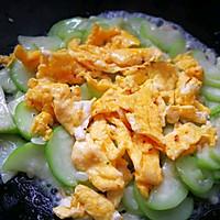 家常丝瓜炒鸡蛋的做法图解7