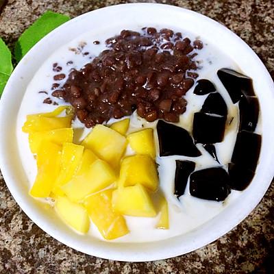 夏季甜品——芒果红豆凉粉