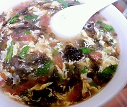 西红柿 虾皮 紫菜汤的做法
