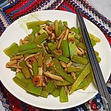 #餐桌上的春日限定#快手美味莴苣虾米炒菌菇