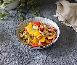 #快手又营养,我家的冬日必备菜品#轻食低卡甜椒炒鸡胸肉的做法