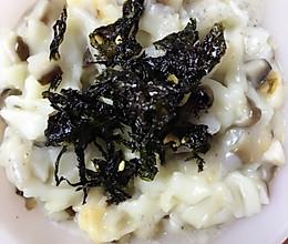 香菇海苔蝴蝶面(宝宝辅食)的做法